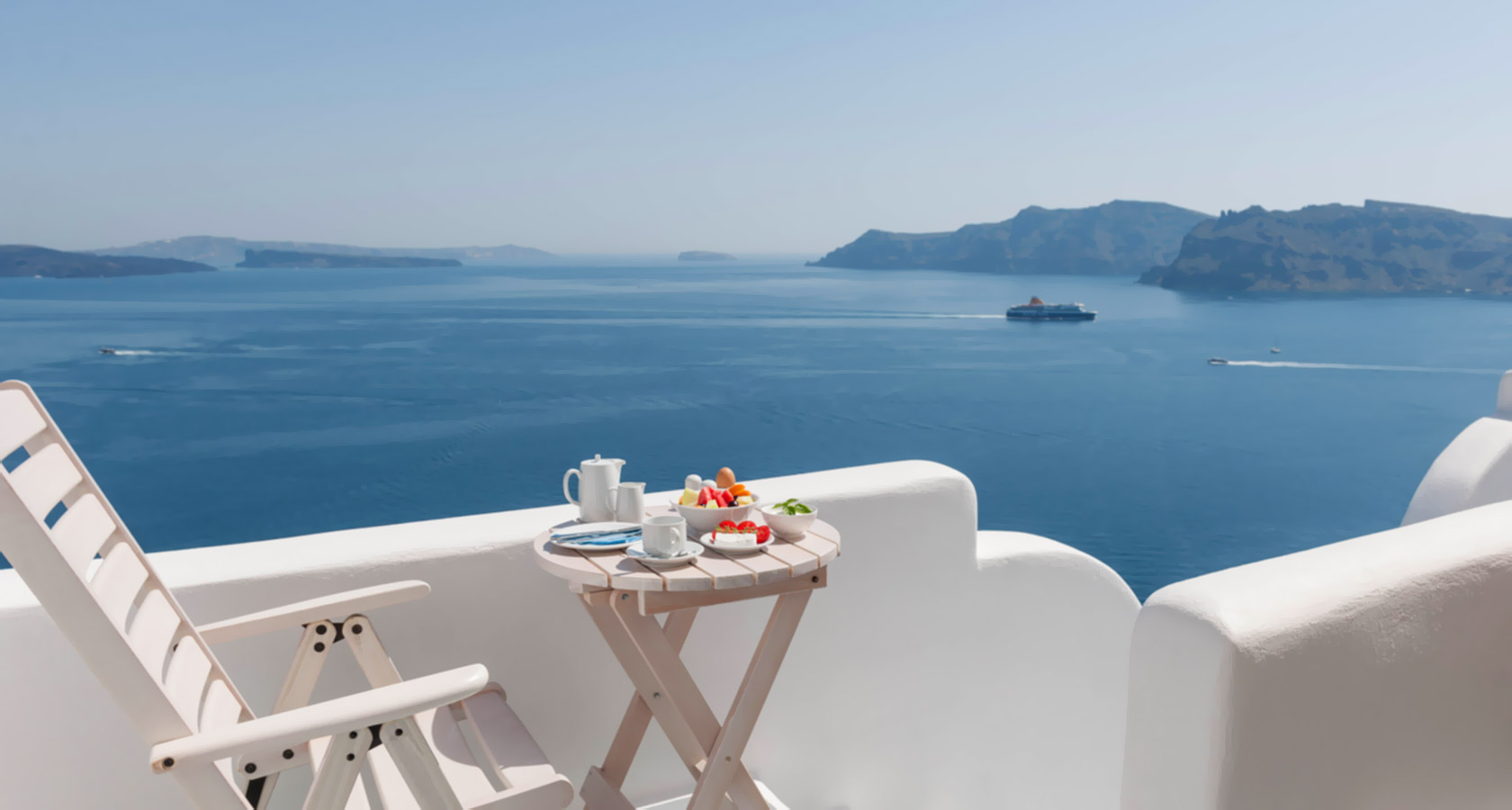 Thirea Suites in Oia Santorini – Private balcony with sea view