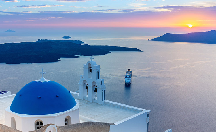 The Santorini Caldera  - The Deepest Affection  of a Lifetime